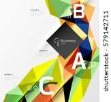 low poly polygonal triangle... | Shutterstock .eps vector #579142711