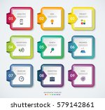 set of 9 square templates for... | Shutterstock .eps vector #579142861