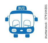 bus front view icon. | Shutterstock .eps vector #579144301