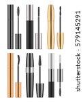 set of 3d realistic blank... | Shutterstock .eps vector #579145291