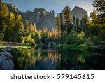 yosemite national park america... | Shutterstock . vector #579145615