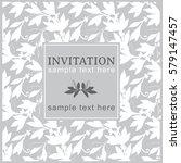 invitation card. vector card... | Shutterstock .eps vector #579147457