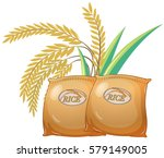 two bags of rice illustration | Shutterstock .eps vector #579149005
