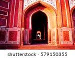 taj mahal  agra  india. pattern ... | Shutterstock . vector #579150355