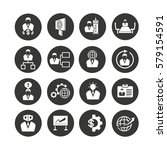 business management icons set... | Shutterstock .eps vector #579154591