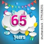 65th anniversary celebration... | Shutterstock .eps vector #579158251