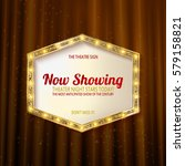 retro light sign. vintage style ... | Shutterstock .eps vector #579158821