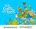 vector illustration with many... | Shutterstock .eps vector #579160027