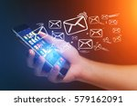 concept view of sending email...   Shutterstock . vector #579162091