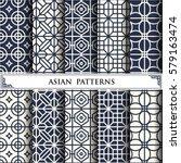 asian vector pattern pattern... | Shutterstock .eps vector #579163474