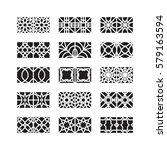 arabic ornament icon  vector set | Shutterstock .eps vector #579163594