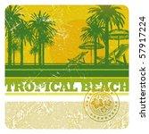 abstract vector tropical beach...   Shutterstock .eps vector #57917224