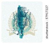 abstract vector musical emblem... | Shutterstock .eps vector #57917227
