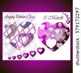 8 march international women's... | Shutterstock .eps vector #579172297