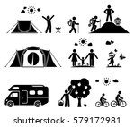 set of pictogram icons...