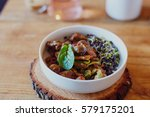 pork dish on the wood | Shutterstock . vector #579175201