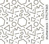 linear geometric seamless... | Shutterstock .eps vector #579179365