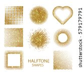 isolated halftone shapes made... | Shutterstock . vector #579179791