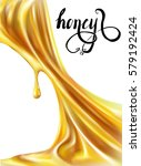honey  droplets  drain  picture ... | Shutterstock .eps vector #579192424