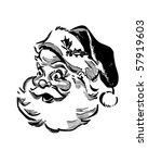 santa   retro clip art | Shutterstock .eps vector #57919603