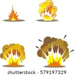 cartoon explosion effect.vector ... | Shutterstock .eps vector #579197329