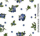seamless cute pattern with the... | Shutterstock .eps vector #579200344