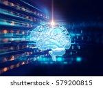 3d rendering of human  brain on ...   Shutterstock . vector #579200815