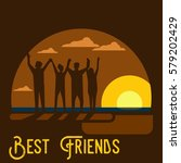friendship illustration vector | Shutterstock .eps vector #579202429