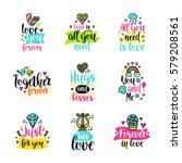 vector calligraphy with decor... | Shutterstock .eps vector #579208561