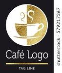 coffee logo in gold | Shutterstock .eps vector #579217267