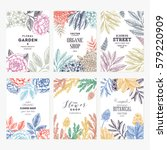 floral card design templates.... | Shutterstock .eps vector #579220909