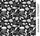 vector seamless pattern with... | Shutterstock .eps vector #579235837