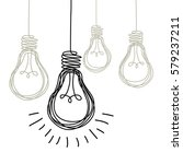 vector light bulb icons with... | Shutterstock .eps vector #579237211