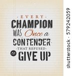 inspirational quote on vintage... | Shutterstock .eps vector #579242059