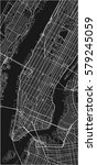 black and white vector city map ... | Shutterstock .eps vector #579245059