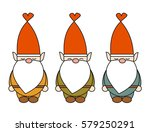cute cartoon gnome vector...   Shutterstock .eps vector #579250291