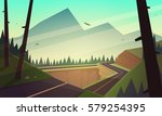 the asphalt road over the... | Shutterstock .eps vector #579254395