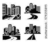 city icons vector. | Shutterstock .eps vector #579255895