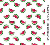 tropic seamless pattern with... | Shutterstock .eps vector #579255961