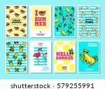 hello summer. set of vector... | Shutterstock .eps vector #579255991