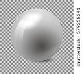 gray glossy sphere isolated on...   Shutterstock .eps vector #579258241