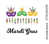 vector illustration  masquerade ... | Shutterstock .eps vector #579259159