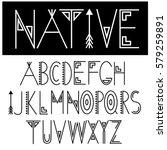 native font. eps 10 vector. | Shutterstock .eps vector #579259891