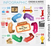 cinema and movie infographics... | Shutterstock .eps vector #579260389