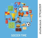 soccer and football concept... | Shutterstock .eps vector #579260509