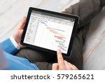 man using project management... | Shutterstock . vector #579265621