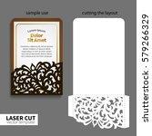 vector laser cutting. | Shutterstock .eps vector #579266329