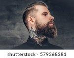 handsome bearded hipster male... | Shutterstock . vector #579268381