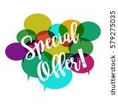 illustration special offer on... | Shutterstock .eps vector #579275035