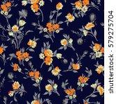 seamless vintage floral pattern | Shutterstock . vector #579275704